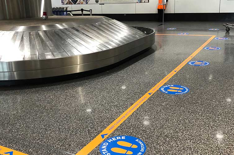 social-distance-baggage